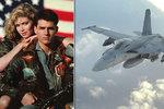 Tom Cruise zpátky ve stíhačce jako Maverick: Už roztočil Top Gun 2