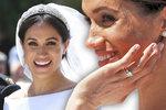 Dříve tretky, teď diamanty! Vévodkyně Meghan má šperky za miliony a korunku půjčenou od královny