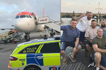 V letadle močili na zem a ohrožovali děti: Opilci mířili na rozlučku do Prahy