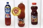Test ledových čajů s příchutí broskve: Karamelem obarvený nápoj se spoustou cukru
