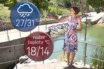 Varování: V neděli 31 °C, opět silné bouřky a přívalový déšť. Sledujte radar
