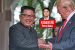 Komentář: Trump se chvástá dohodou s Kimem. Rakeťák ale odzbrojil spíš Donalda