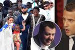Itálie bere migranty jen z vlastních lodí. Macron se kvůli tomu tvrdě hádá se Salvinim