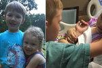 Dojemný snímek: Chlapeček se loučí s umírající sestřičkou (†4), pár hodin nato zemřela