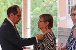 Šabatová obdržela nejvyšší vyznamenání Francie. A zmínila uprchlíky i Romy