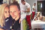 Manželka Tomáše Kluse s dětmi na dovolené: Zranila se první den! Manželovi zakázala přijet