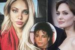 Ruská celebrita utratila balík, aby se podobala Angelině Jolie. Vypadáš jak Jackson, smějí se jí