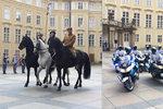 Přehlídka na Pražském hradě: Vojáci z Hradní stráže pochodovali k 100. výročí od nástupu legionářů ve Francii