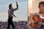 """VIDEO: Mick Jagger se naučil českou lidovku! """"Pec nám spadla,"""" notuje si vesele se silným přízvukem"""