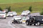 Nehoda policistů na Slovensku: Z nabouraného vozu se začal ozývat dětský pláč. Kolemjdoucí neváhali