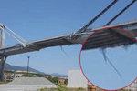 Šokující foto: Z janovského mostu týdny před zřícením trčely kabely