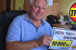 Ladislav Hron (70) z Ostravy vyhrál v Trháku: 10 tisíc půjde na dovolenou!