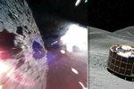 """""""Skákající"""" roboti poslali první fotky z 280 milionů kilometrů vzdáleného asteroidu"""