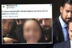 """Macronův """"milenec"""" má další průšvih: Číšnici mířili pistolí s kumpány na hlavu"""