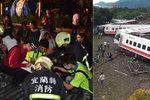 Vlakové neštěstí na Tchaj-wanu: Nehoda si vyžádala 17 obětí, 126 lidí je zraněno