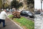 Itálii sužuje nečas: Benátky jsou pod vodou, lidé umírají pod spadlými stromy