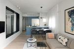 Minimalistický apartmán v centru Tel Avivu zdobí pastelové barvy