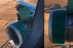 """""""Lidé křičeli v panice."""" Letadlu z Las Vegas se ve vzduchu odkryl motor"""