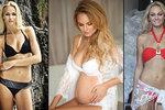 Těhotná Fajksová přibírá: Z borůvek jsou prsa jako Pobřežní hlídky!