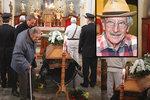 Pohřeb »dědy Lubina« Kostelky (†91): Přišli dva kolegové z Kouzelné školky!