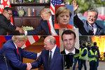 """Byla to jízda: Rok 2018 přinesl tlustého rakeťáka, konec Merkelové i """"milence"""" Macrona"""