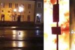 Megavýbuch v Česku: Náměstím na Plzeňsku otřásla děsivá exploze, ohnivý hřib šokoval přihlížející
