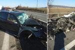 Děda (†83) najel na D5 do protisměru a smetl jiné auto: V nemocnici zemřel