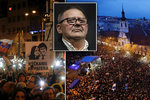 Kuciakův otec děkoval davu. A památku zavražděných snoubenců uctili i Češi