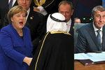 """Merkelová, saúdský král či Babiš v oblíbeném letovisku Čechů: """"Upřímně nejen o migraci"""""""