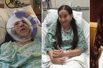 """Ivanka bez půlky tváře se probudila po operaci. """"Je to největší bojovnice,"""" říká její sestra"""