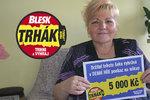 Zdeňka (55) z Příbrami se těší z výhry v Trháku: 5 tisíc půjde na sporák