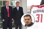 Pikantní dohra: Babiš má od Trumpa dres Satoranského, ten s ním nechtěl schůzku
