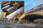 Průzkumné vrty odhalily skutečný stav Hlávkova mostu. O víkendu ho zatíží plně naložené náklaďáky