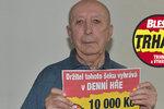 V pravou chvíli vyhrál Jan Kadlec (80) ze Sokolova v Trháku: 10 tisíc na večeři a zubaře