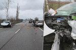 Důchodce v protisměru na Královéhradecku čelně naboural auto s batoletem (1)! Dítě skončilo v nemocnici