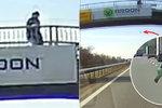 Václavovi na auto na dálnici hodil skleněnou lahev: Mohl ho zabít!