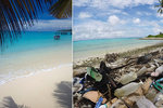 Tropický ráj se změnil na smetiště. Pláže pokryly tisíce tun naplavených plastů