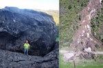 Na dálnici spadl balvan o velikosti budovy. Vážil 1600 tun, kompletně ji roztříštil