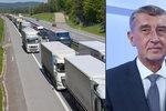 Konvoje brzdící dopravu na D1 už jsou mimo ČR. Babiš mluvil o vyhnání, Šedivý o selhání