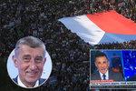 """Demonstraci odpůrců Babiše řešila i CNN: Tisíce protestují proti """"českému Trumpovi"""""""