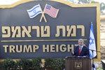 Vděčný Netanjahu dal Trumpovi dárek. Pojmenoval po něm osadu na Golanech