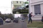 Zdrogovaný řidič se řítil Hradcem v kradeném autě rychlostí až 150 km/h! Řidičák nikdy neměl