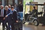 """Zeman brázdí Vysočinu i v golfovém vozíku. O Šmardovi i po """"tajné"""" schůzce mlčí"""