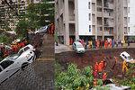 Tragédie v Indii: Zeď zasypala dělníkům domy, šestnáct mrtvých