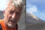 Etna se znovu probouzí: Na děsivou sopku vystoupal s turisty i televizní reportér