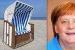 Německé pláže dobývají speciální koše. Jeden dostala i Merkelová