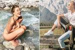 Muzikálová Popelka Klausová se odvázala: Úplně nahá v alpských pramenech!