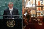 """Babiše hřeje pochvala od Vivien. Po projevu v OSN to ale schytal za """"ufňukanost"""""""