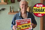 Michal (88) uspěl v Trháku už podruhé! Výhru mi poslala moje mrtvá žena, říká