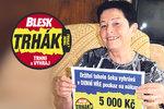 Marie (69) z Kutné Hory září štěstím, trhák jí nadělil dvě výhry naráz: Volání zdarma a navrch 5000 Kč!